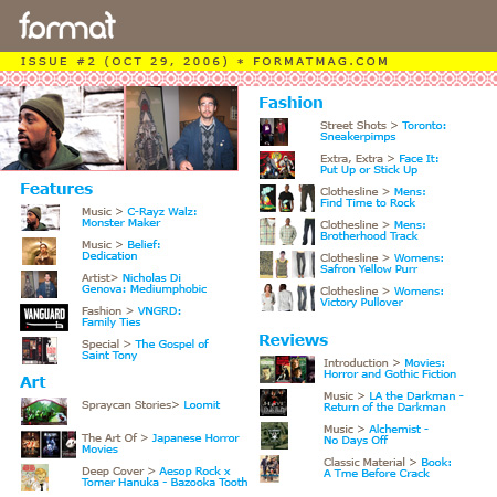 Format Issue Two - Table of Contents