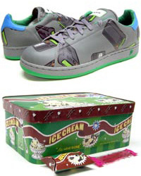 Sneakerbox - Pager Flavor Ice Cream Low (Grey / Green / Blue)