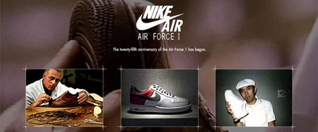 Nike Official Air Force One 25th Anniversary Website