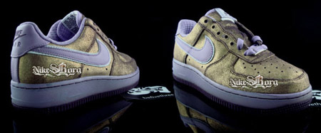 Nike Air Force 1 Low - Gold and Purple