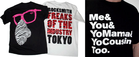 New Rocksmith Tees