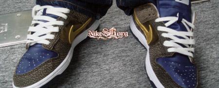 Nike True Blue/Gold Safari Dunk