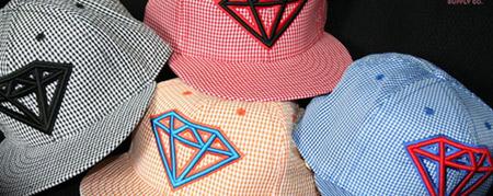 Estate LA x Diamond Supply Co. Gingham Caps