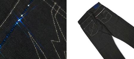 Levi's Fenom Sapphire Disco Black Rigid Denim