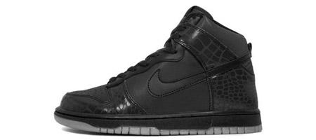 Nike Dunk Hi LE (Black/Metallic Silver)