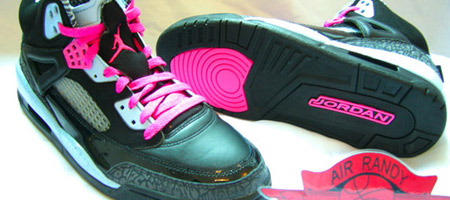 Air Jordan Ice Blue/Pink Womens Spiz'ike