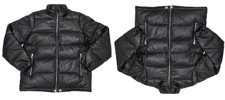 Bape Leather Down Jacket
