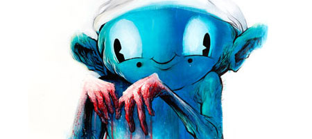 """Guilty Smurf"" Giclee Print"