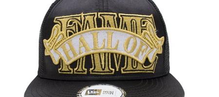 Hall of Fame Black Satin Ribbon Snapback Cap