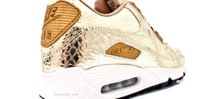 Nike Air Max 90 Metallic Gold Crocodile Skin Print