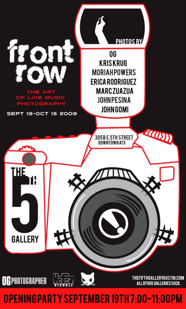 'Front Row' Music Photography Exhibition At The Fifth Gallery