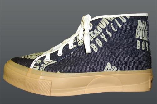 BBC Logo & Laser Gun High Top Sneakers-4