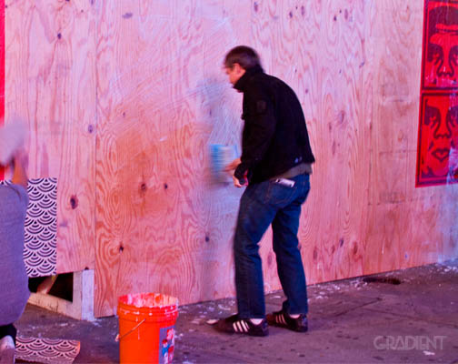 Shepard Fairey x Levi's Times Square Event 4