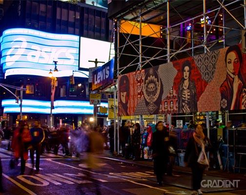 Shepard Fairey x Levi's Times Square Event 8