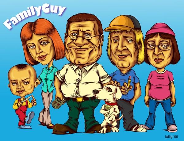 Kristy Anne Ligones's Family Guy Portraits 1