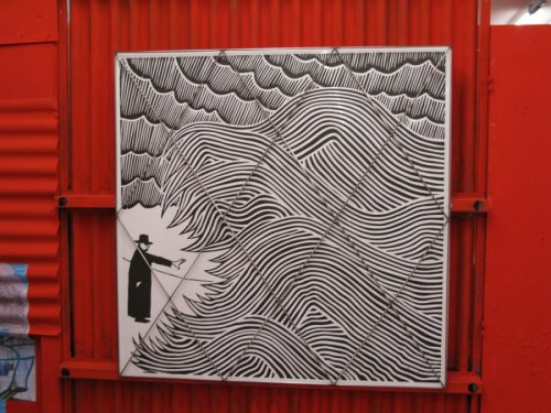 Stanley Donwood 'The Red Maze' at the Schunck Gallery 2