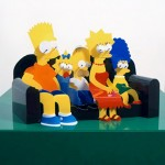 Perspective Sculptures Of Classic Cartoons by James Hopkins