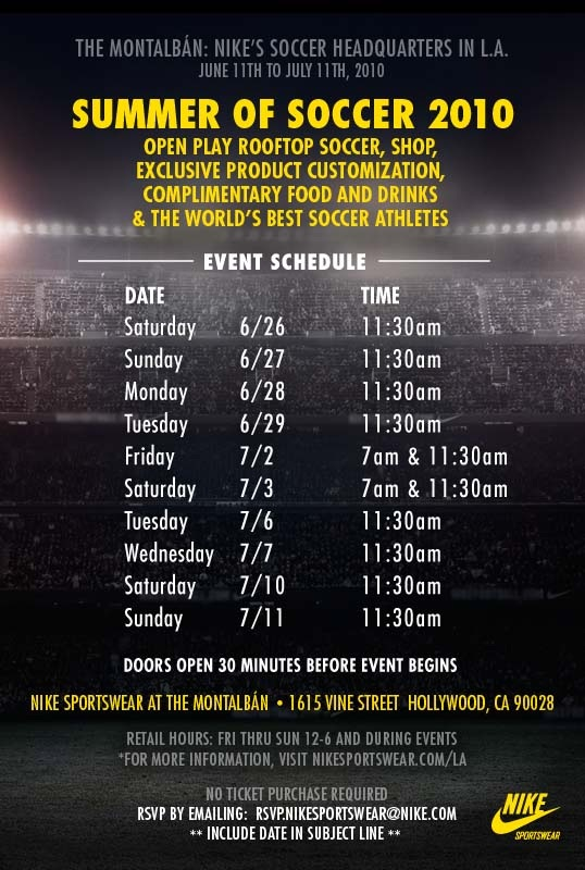 The World Cup Final at Nike LA @ The Montalban 04