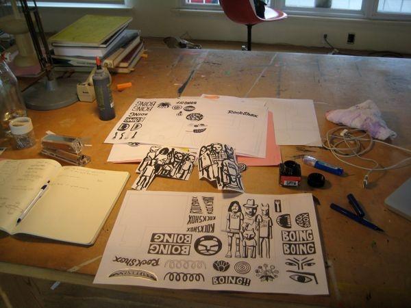 Inside Geoff McFetridge's Studio 02