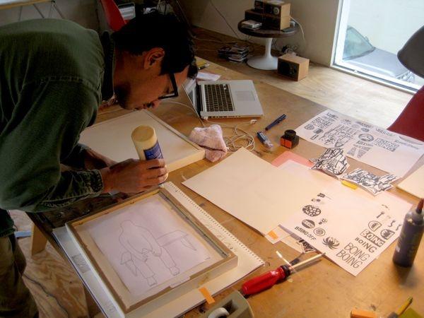 Inside Geoff McFetridge's Studio 08