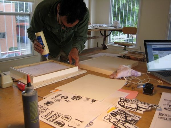 Inside Geoff McFetridge's Studio 09