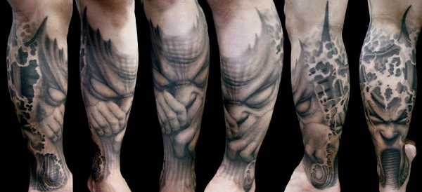 Black and Gray Tattoo B Paul Booth