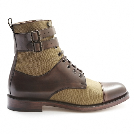 D.S.DUNDEE-Bannerman-Derby-Leather-Canvas-Boot-3
