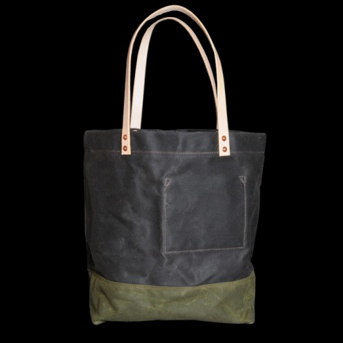 Strawfoot-Handmade-Waxed-Canvas-Tote-in-Dark-Brown-Olive-2-500x500