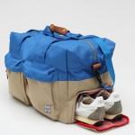 Herschel Supply Co Walton Duffle Bag in Khaki and Cobalt