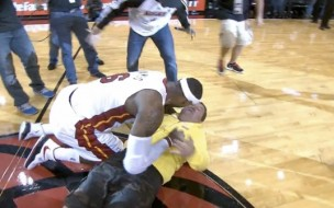 LeBron-Tackles-Fan-Who-Makes-Impossible-Shot-Video