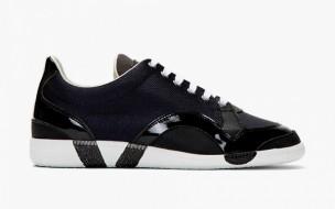 Maison Martin Margiela Navy Mesh Panelled Sneakers